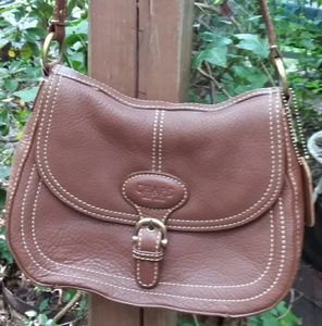 CHAPS Genuine Leather Shoulder Bag NWT